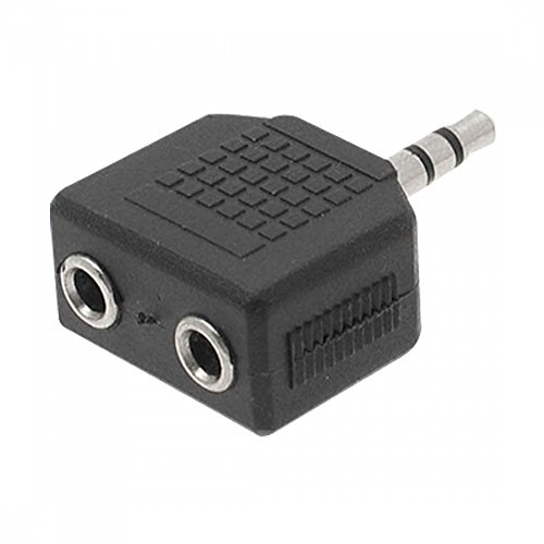 3-pin  stereo 3-pin  stereo 6.35 mm male 3.5 mm female Goobay 11100 Headphone adapter; AUX jack; 6.35 mm to 3.5 mm