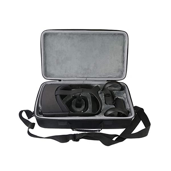 co2CREA Hard Travel Case Replacement for Oculus Quest 1 2 Advanced All-in-one VR Gaming Headset 1