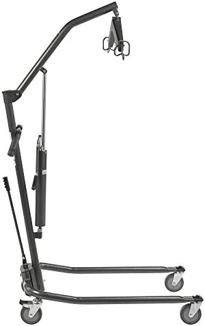 Drive Medical Hydraulic Patient Lift | Six Point Cradle, 5-Inch Casters | Silver Vein 4123HUeuMWL