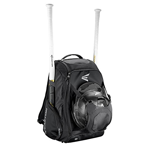 EASTON WALK-OFF IV Bat & Equipment Backpack Bag | Baseball Softball | 2019 | Black | 2 Bat Sleeves | Vented Shoe Pocket | External Helmet Holder | 2 Side Pockets | Valuables Pocket | Fence Hook