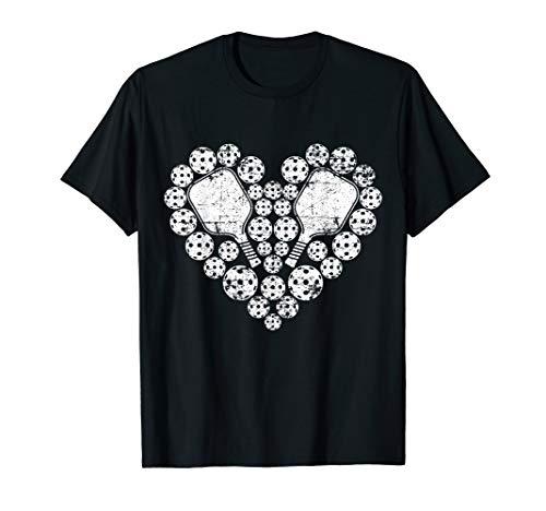 Love Pickleball Heart T Shirt Valentine's Day Gift for Her