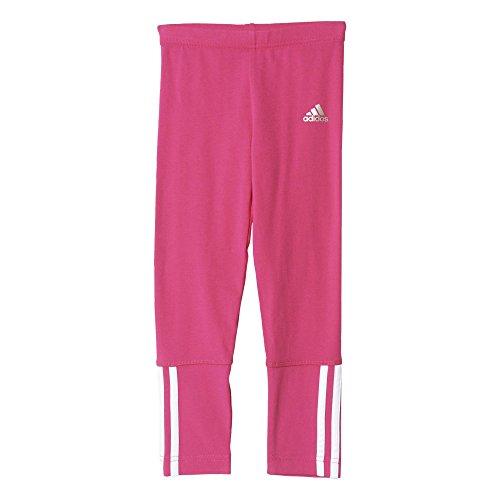 adidas Jungen Leggings LG ESS CO Tights, Rosa/Weiβ, 128, 4055344398159