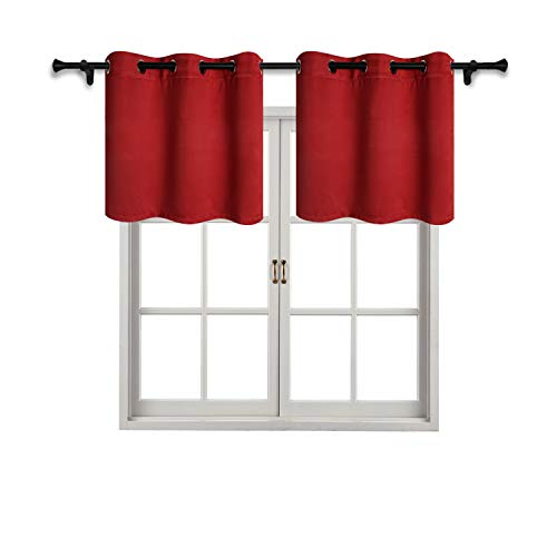 red curtain valance - 5