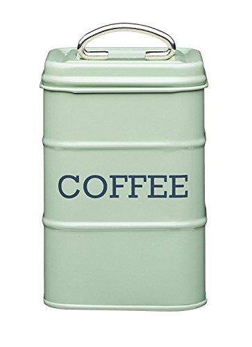 """Living Nostalgia Vintage Style Airtight Tea Tin Canister English Sage Green - 17cm x 11cm 6.5"""" x 4"""""""