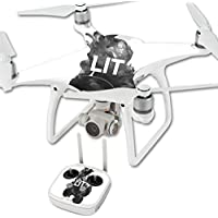 Skin For DJI Phantom 4 Quadcopter Drone – Lit | MightySkins Protective, Durable, and Unique Vinyl Decal wrap cover | Easy To Apply, Remove, and Change Styles | Made in the USA