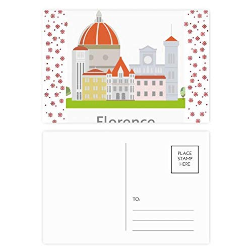 Italy Florence Landscape National Pattern Christmas Flower Postcard Thanks Card Mailing 20pcs ()