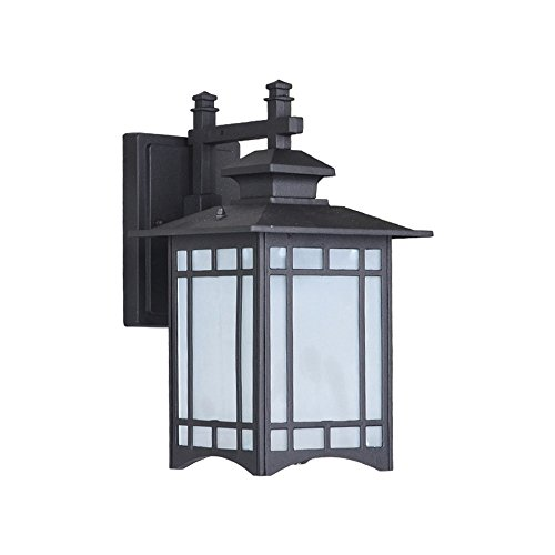 KMYX E27 retro apliques de luz de pared al aire libre a prueba de herrumbre de aluminio con pantalla de cristal de alta...