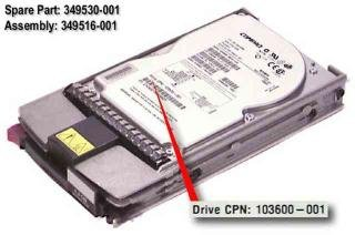 (349513-b21 Compaq 4.3gb Hot-plug Wide Ultra2 Scsi Hard Drive 7,200 Rpm)