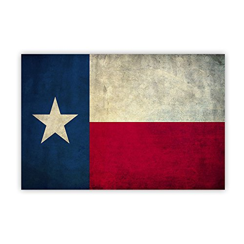 EZON-CH Vintage Retro Texas Flag Canvas Print Wall Art Stretched and Framed Painting on Canvas for Home Wall Decor ()