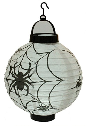 Najer Halloween Decorations Spider Paper Lanterns with LED Light Decoration Props for Yard Garden Outdoor (Funny Gravestones For Halloween)