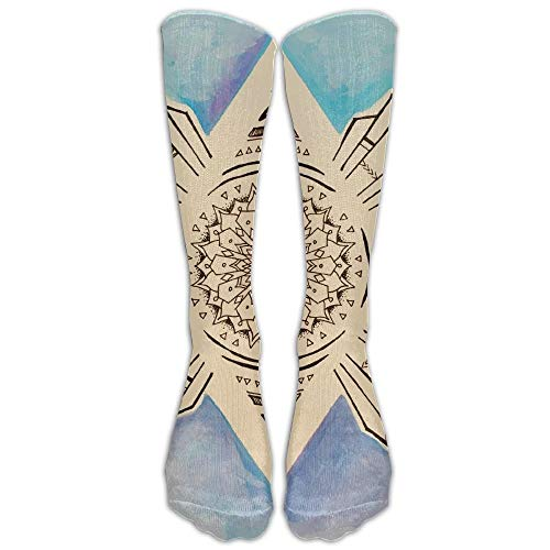 Fashion Cute Fun Socks for Women God Eye On Psychedelic Oil Painting Background