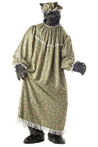 [8eighteen Big Bad Wolf Granny Adult Costume] (Big Bad Wolf Costume Granny)