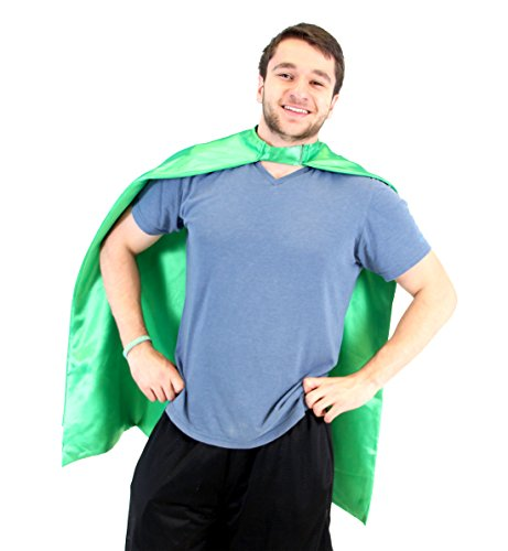 Custom Costume Design (Reversible Adult Green and Green Superhero Custom Personalized Costume Cape (Adult))