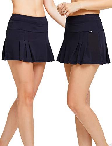 MotoRun Women's Active Athletic Skort Lightweight Pleated Skirt for Running Tennis Golf Workout (Skirt Pleated Detail)