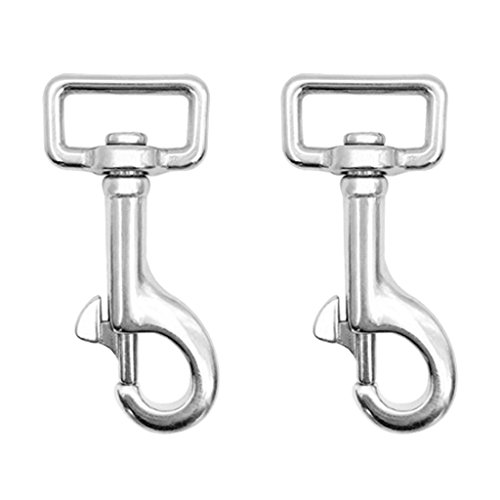 (DYNWAVE 304 Stainless Steel Swivel Eye Bolt Snap Clip Hooks Scuba Diving Accessories)