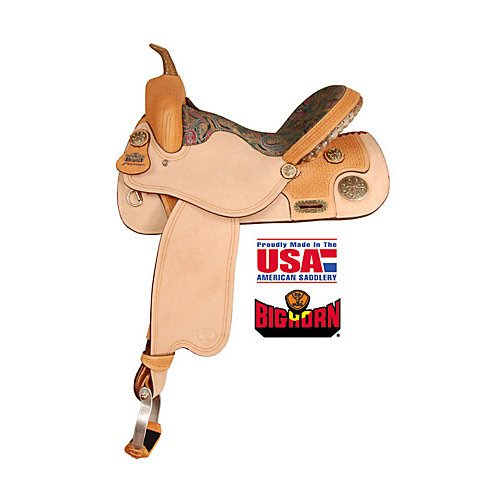 Big Horn BoxWeave Jewel Padded Barrel Saddle
