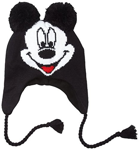Disney Mickey Mouse Knit Beanie Peruvian Laplander Hat by Toy Zany (Knit Peruvian Laplander)