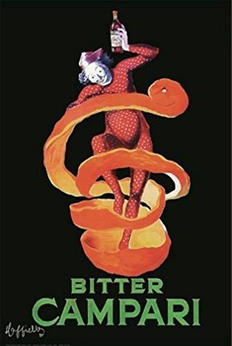 French Ad Poster - Buyartforless Vintage Ad French Bitter Campari 1921 by Leonetto Cappiello 36x24 Art Print Poster Wall Decor Famous Advertisement Drink Clown