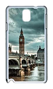 Samsung Note 3 Case,VUTTOO Cover With Photo: Westminster Bridge For Samsung Galaxy Note 3 / N9000 / Note3 - PC White Hard Case