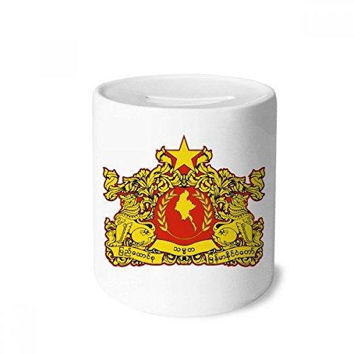 Burma Box - DIYthinker Naypyidaw Burma National Emblem Money Box Saving Banks Ceramic Coin Case Kids Adults