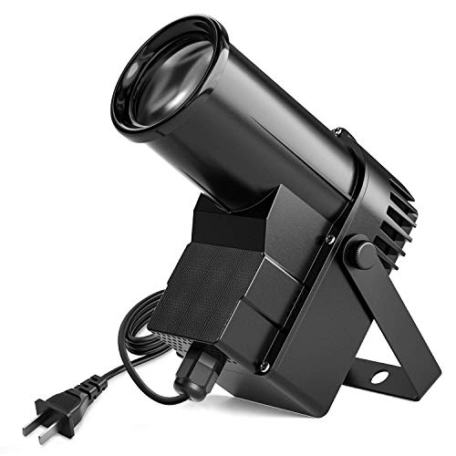 Donner Spotlight Stage Effect Pinspot LED Light DL-5 10W 6CH RGBW Auto/DMX DJ Lightning Control (Converge Switch Video)