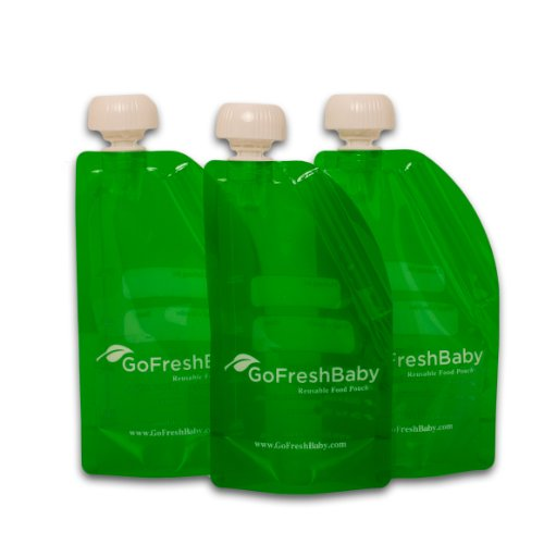 GoFreshBaby Reusable Refillable Recyclable Food Pouches 3 Pack