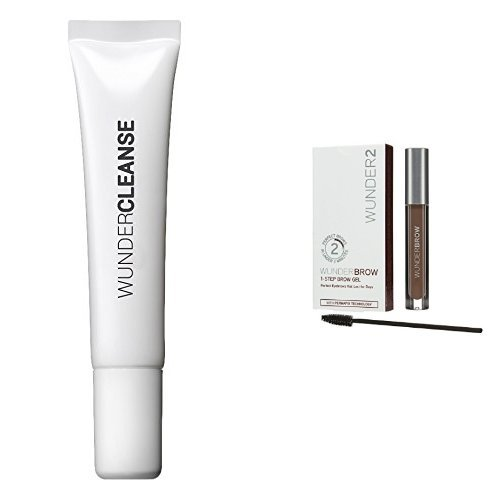 WUNDERCLEANSE Brow Cleanser and WUNDERBROW Perfect Eyebrows in 2 Mins - Brunette Duo Set