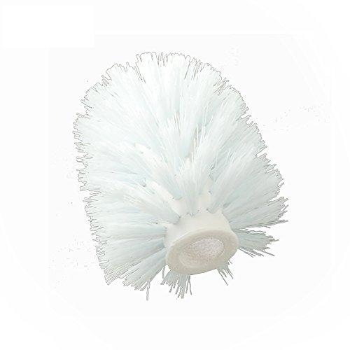 Shari Toilet Bowl Brush Round Brush Head (White Head) - Household Shari