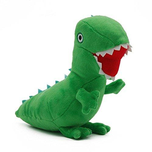 Maggift George Dinosaur Plush Stuffed Cartoon Dinosaur Doll Toys green 6.7 -