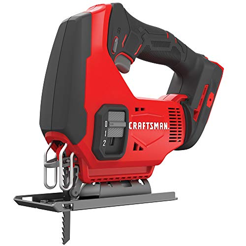 CRAFTSMAN V20 Cordless Jig Saw, Tool Only CMCS600B