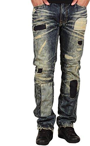 Jordan Craig Men's Slim Fit Patched Raphael Jeans From Legacy Edition by Jordan Craig
