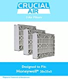 Think Crucial 3 Replacements for Honeywell 20x25x5 FC100A1037 Merv 8 Furnace Air Filter