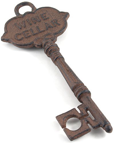HomeOffice Antique Style Decorative Wine Cellar Key  Skeleton Key,Brown