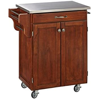 Amazon Com Create A Cart Cherry 2 Door Cabinet Kitchen