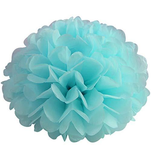 Tissue Paper Pom Poms DIY Paper Flower Ball Wedding Decorative Party Home Decor Tissue Birthday Baby Shower Christmas Decoration Light Blue 20cm - Light 20 Bouquet Tulip