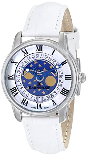 Thomas Earnshaw Women's ES-0021-01 Longitude Analog Display Swiss Quartz White Watch