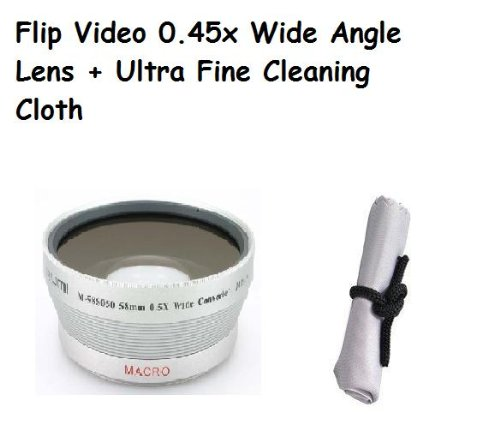 Flip Video High Quality .45 Angle lense + macro magnetic type + Ultra Fine Cl...
