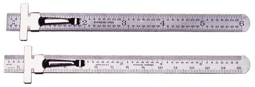 Clip Rules - PEC TOOL USA Brand Front: 32nd, 64ths, Back: Decimal Equiv. Chart (includes 2 pcs.) by PEC USA