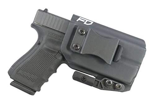 Fierce Defender IWB Kydex Holster Glock 19 23 32 w/Olight PL-Mini Valkyrie The Paladin Series -Made in USA- GEN 5 Compatible (Black) (Best Glock For Personal Protection)