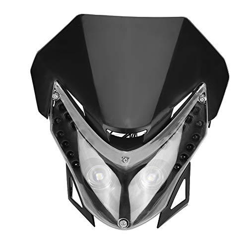 Dirt Bike Headlight Universal DC12V Dirtbike Motorcycle LED Headlight Street Fighter Sport Custom Fairing Light (Custom Dirt Bike Parts)