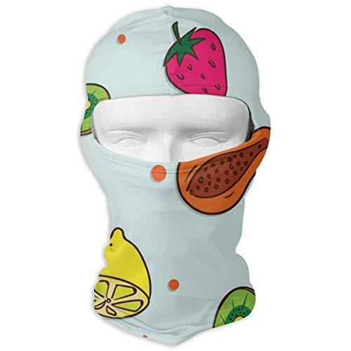 YIXKC Balaclava Papaya Strawberry Lemon Great Full Face Masks UV Protection Skiing for Men -