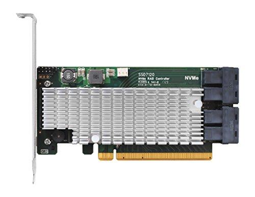 High Point SSD7120 4X Dedicated 32Gbps U.2 Ports to PCIe 3.0 x16 RAID Controller