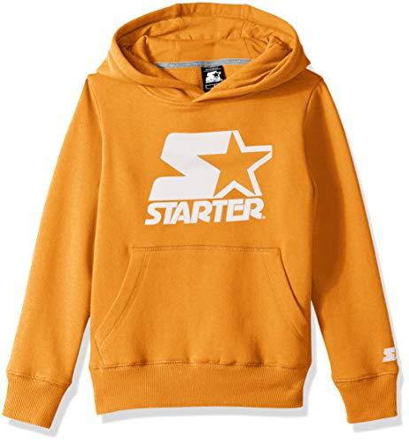 Starter Boys' Pullover Logo Hoodie, Amazon Exclusive, Team Orange, XS (4/5)
