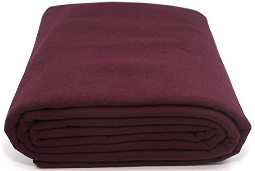 Anti-Tarnish Silver Cloth - Pre-cut by the Yard - Burgundy (4 Yards by (Burgundy Sterling Silver Flatware)