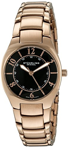 Stuhrling Original Women's 112L.12441 Classic Ascot Regalia Swiss Quartz Ultra Slim Black Dial Watch