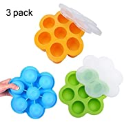 MOSERIN Silicone Food Freezer Storage Tray for Baby Food and Storage Container and Freezer Tray,BPA Free
