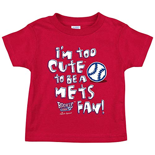 - Rookie Wear by Smack Apparel Philadelphia Baseball Fans. I'm Too Cute Onesie (NB-18M) Toddler Tee (2T-4T) (2T, Red)