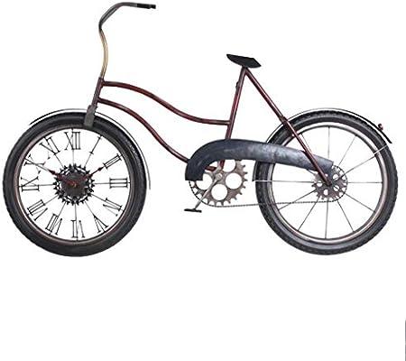 WYJW Mudo Reloj de Pared Grande Bicicleta de Metal Moderno Número ...