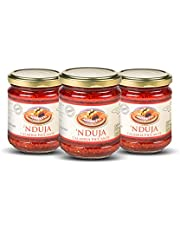 Moretti® Spicy Nduja from Calabria   100% Natural   Original NO GMO   NO Preservatives   Spreadable and Creamy Salami in Jar of 180gr   with Oil and Calabrian Chillipepper Sauce