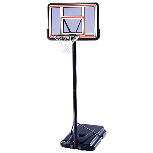 Lifetime 1269 Pro Court Height Adjustable Portable Basketball System, 44 Inch Backboard (Nba Basketball Goals)